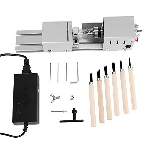 4YANG 80W mini draaimachine parels polijstmachine CNC-bewerking voor tafel houtbewerking hout DIY gereedschap draaimachine DIY houtbewerking handwerk rotatiegereedschap