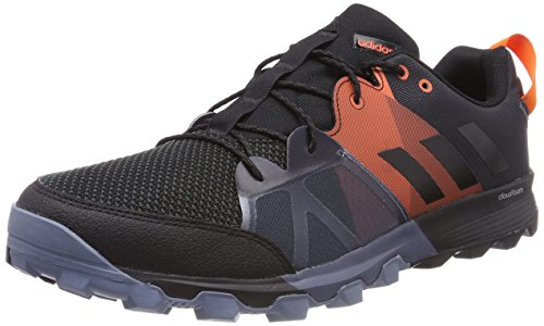 Adidas Kanadia 8.1 TR m, Zapatillas de Trail Running para Hombre, Negro (Carbon/Core Black/Orange 0), 45 1/3 EU