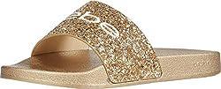 Gold Fraida Slide Sandal