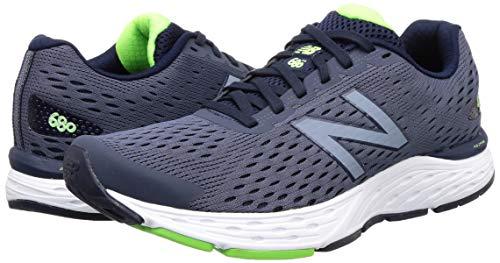 New Balance Men's 680 V6 Running Shoe, Pigment/RGB Green, 11 4E US 5