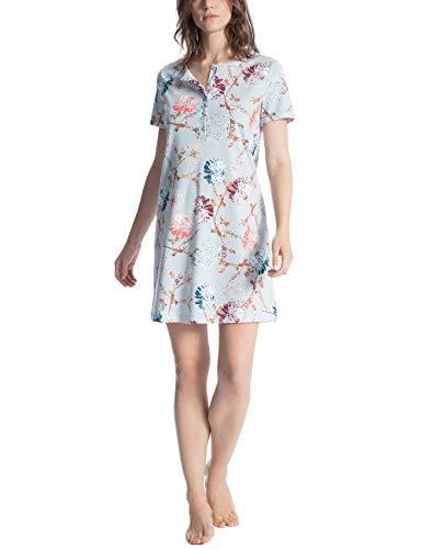 CALIDA Damen Cosy Flowers Nachthemd, Mehrfarbig (Summer Blue 560), X-Small