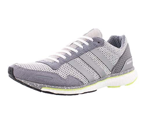 adidas Zapatillas de running Adizero Adios W para mujer, gris (Gris/plateado (grey one/metallic silver/grey three))