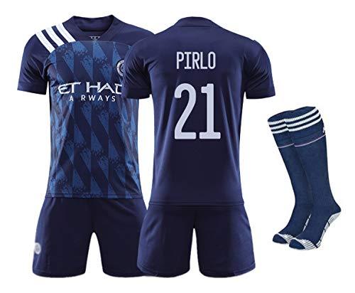 Fan de Jersey de fútbol Ropa de fútbol Niños y niñas Adultos, Uniformes de Juegos en casa de la Ciudad de Nueva York Trajes de fútbol para fanáticos Camiseta y Pantalones Cortos y Calcetines per