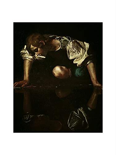 Caravaggio - Narcissus c. 1598/99 Print 60x80cm