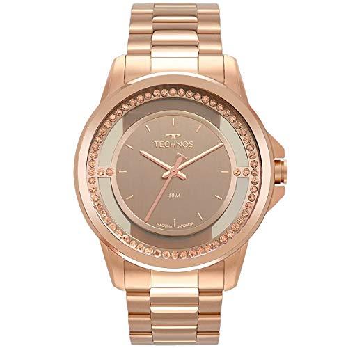 Relógio Technos Feminino Rosé Pulseira Aço Rosé