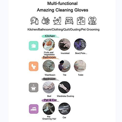 Product Image 4: MITALOO Magic Dishwashing Cleaning Sponge Gloves Reusable Silicone Brush Scrubber Gloves Heat Resistant for Dishwashing Kitchen Bathroom Cleaning Pet Hair Care Car Washing(Green)