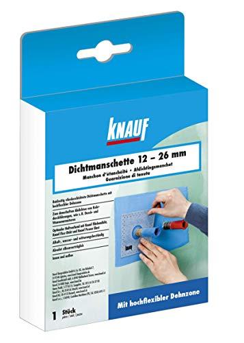 Knauf Dichtmanschette zum dauerhaften Abdichten von Rohrdurchführungen, für 12 - 26 mm Rohr-Durchmesser – Rohr-Abdichtung, Dicht-Vlies wasser- und witterungs-beständig