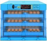Incubatrice per 192 Uova, Automatica Incubatrice con Display Digitale a LED Controllo della Temperatura e dell'Umidità Efficiente e Intelligente per Gallina, Anatra, Quaglia,F