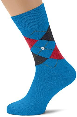 Burlington Herren Norfolk Socken, Blau (mediterran 6060), 40/46 (Herstellergröße: 40-46)