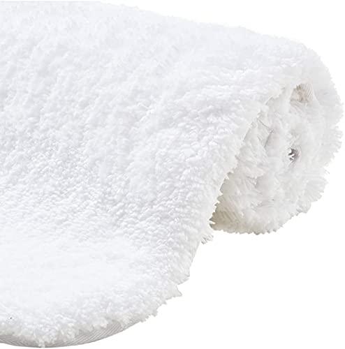 YANSKY Tapis de bain de luxe de qualité supérieure - Incroyablement doux - Épais - Absorbant - En peluche - Blanc - 60 x 90 cm