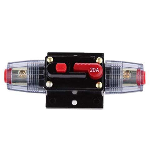 YZLSM 12v-24v Inline Auto-leistungsschalter 20a Manuelle Reset-Schalter Car Audio Sicherungshalter Circuit Breaker