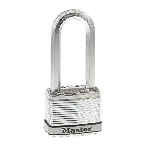 Master Lock M5XTLJ Magnum Heavy Duty Outdoor Padlock with Key, 2 Pack Keyed-Alike