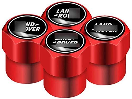 4 Piezas Tapas para válvulas de neumáticos,Válvula de Neumáticos Tapones de válvula Para La-nd Ro-ver Ran-ge Ro-ver Evoque Defender Discovery Freelander,impermeable Auto decoración Accesorios