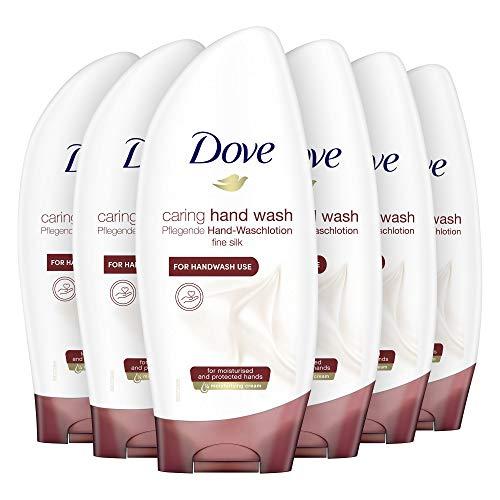 Dove Sapone Mani Detergente Cremoso Effetto Seta, 250 ml, 6 Pezzi