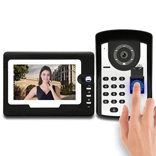 Timbre de la Puerta de intercomunicación Visual, videoportero, con Cable, Portero automático,...