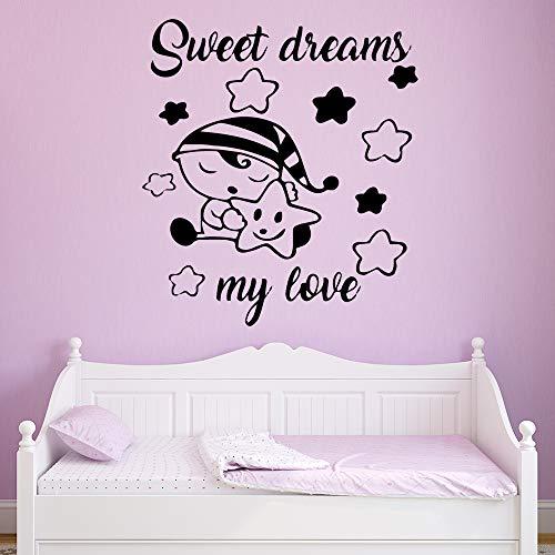 Yaonuli personaliseerbaar zacht dromt muur kunst behang decoratie woonkamer decoratie vinyl muursticker