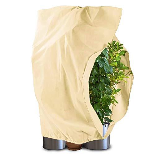 Qfun Winterschutz für Pflanzen, Frostschutz Pflanzen Winter (1.2m*1.8m) mit Kokosmatte 30cm 100{cf2b297f3b501e02d2bcef49c063f40662da7487aea61eeed38ebab59da48af3} Biologisch Winterschutz für Kübelpflanzen Olivenbaum