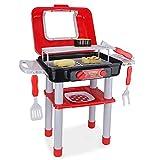 JoyKip - Set di barbecue per bambini con luci e suono, include strumenti per far finta di cibo e...