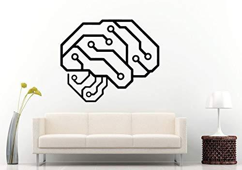 Dwzfme Pegatinas de Pared Adhesivos Pared Cartel Interior de la decoración de la habitación del Dormitorio del Vinilo de la Placa de Circuito del Cerebro Humano de Neurelectric 57x68cm