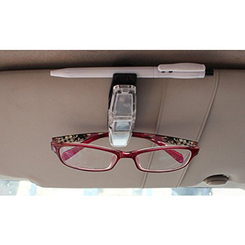 Zhhlinyuan Durable Glasses Pen Holders Sunglasses Eyeglasses Bill Clip para Cars Car Suv / Air Vent
