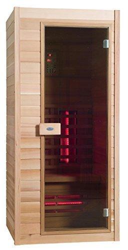 Infrarot Sauna Nobel 90 Hemlock Holz mit Duoflex Strahlern !