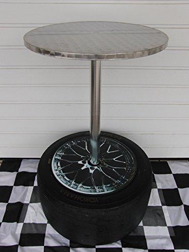 Racing Stehtisch/Bistrotisch aus Alu mit Renn/Slick org. aus der Tourenwagenmeisterschaft, Porsche Cup,