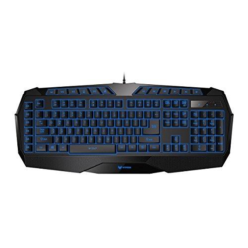 Rapoo VPRO V52 beleuchtete Gaming Tastatur mit programmierbaren Tasten, integriertem Speicher, schwarz