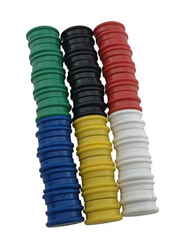 RIKAMA 24 Magnete | Mix | Set aus je 4 x Rot, Grün, Gelb, Blau, Schwarz und Weiß | Rund | Haftmagnete | Magnettafel | Whiteboard | Kühlschrank