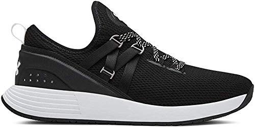 Under Armour Women's Breathe Trainer Sneaker, Black (001)/White, 8