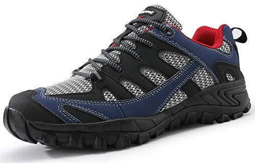 COOJOY Wanderhalbschuhe Herren Atmungsaktiv Wanderschuhe Graphene Trekking&Hiking Walkingschuhe Blau43