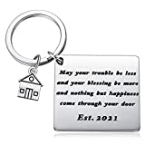 Blessing Housewarming Gift for New Homeowner Closing Gifts New Home Keychain Wedding Keyring