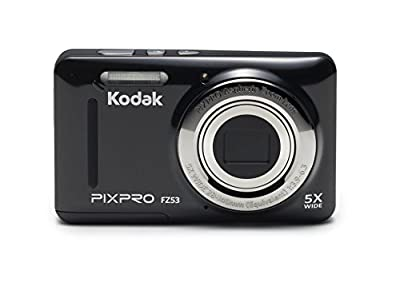 "Kodak PIXPRO Friendly Zoom FZ53-BK 16MP Digital Camera with 5X Optical Zoom and 2.7"" LCD Screen (Black)"