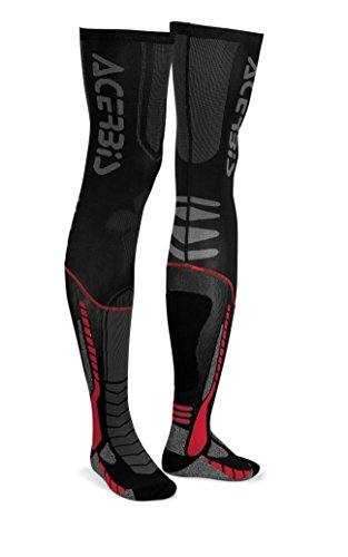 Acerbis 0021693.323.069x-leg Pro Socken, schwarz/rot