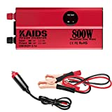 KAIDS Power Inverter Full Power 800W Car Inverter Peak 1600W DC 12V to 110V AC Car Inverter USB Ports Charger Adapter Car Plug...