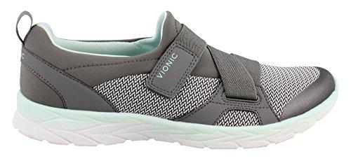 Vionic Women's Brisk Dash Slip-on Sneaker Grey Mint 9M