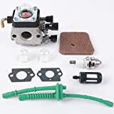 NIERBO Kit de Carburador para STIHL FS55 FS55R FS55RC KM55 KM55R HL45 FS38 FS45 FS46 Accesorios para Piezas de Motor Reemplazo de Recortadora Kit de Línea de Combustible Filtro de Aire