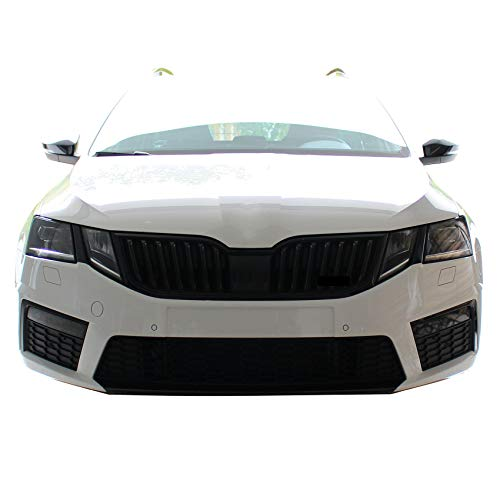 Finest Folia Folie Cover für Scheinwerfer Zwischensteg Auto Fahrzeug optisches Tuning Aufkleber (Facelift D073)