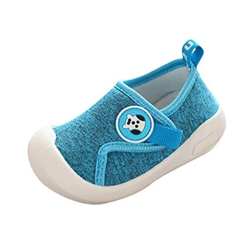 HDUFGJ Babyschuhe 1-5 Jahre Kinder Schuhe Kleinkind Jungen Mädchen Klett Weiche Sohle Lauflernschuhe 26 EU(Blau)