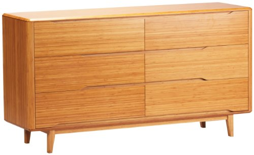 Check Out This GREENINGTON LLC Currant 6-Drawer Bamboo Dresser, Caramelized