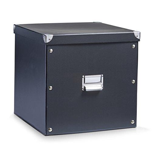 Zeller 17635 Aufbewahrungsbox, Pappe / 33.5 x 33 x 32, schwarz