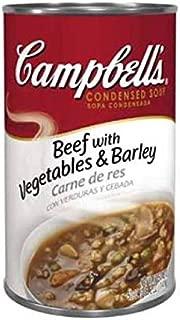 Campbells Condensed Beef Barley Soup - 50 oz. can, 12 per case