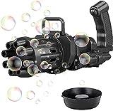 FOHYLOY 2021 Seifenblasenmaschine Automatische Seifenblasenmaschine Elektrische Seifenblasenmaschine Outdoor Spielzeug für Kinder, Jungen und Mädchen (Schwarz)