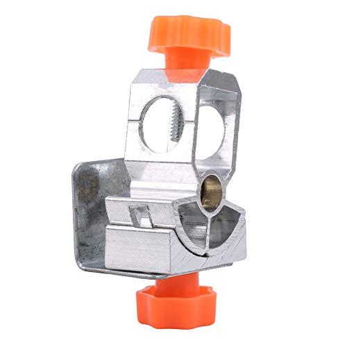 Ellepigy Universal Angelgerät Stuhl Montieren Schirmhalter Stehen Köderablage Angelrute Clips Verstellbare Klemme (Orange)
