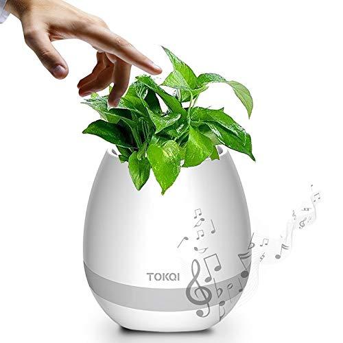 Generic TOKQI Smart Flower Pot (Bluetooth-Lautsprecher, 1200 mAh, Farblicht, Klavier)