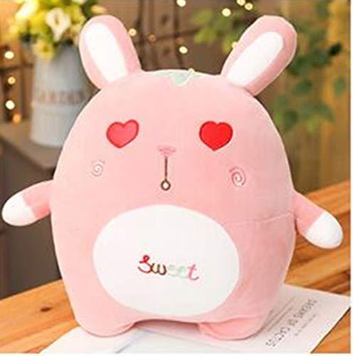 WHKJ Süße süße Hasenmädchen Plüschkissen Hase Plüschtier Puppe Valentinstag Geburtstagsgeschenk Kreative Komfortpuppe für Kinder 45cm
