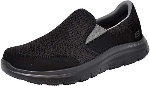 Skechers Men's Flex Advantage Mcallen Slip On, Black/Charcoal, 9.5 W US