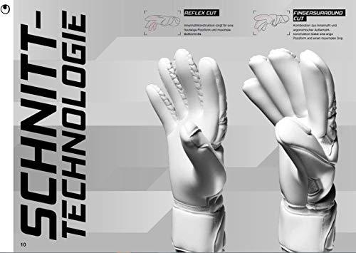 uhlsport Torwarthandschuhe Next Level-Supersoft-In den Größen 6-11 Innenhand Keeper-Handschuhe entwickelt mit Profis-Optimaler Halt und Grip, langlebig-Marine/Fluo rot, 7 - 7