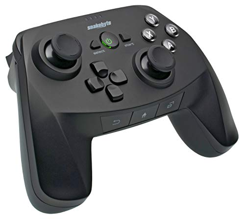 Snakebyte Android GAMEPAD Pro - Wireless Bluetooth Controller für Android / PC / Mac, Analog Joysticks, ab Android-Version 3.2, Android-Buttons, niedrige Latenz, integrierter Akku, extra 3m USB-Kabel