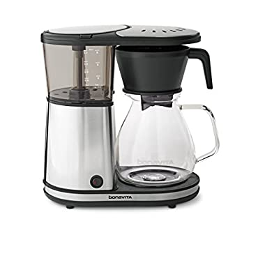 Bonavita BV1901GW 8-Cup One-Touch Coffee Maker Featuring Glass Carafe and Warming Plate
