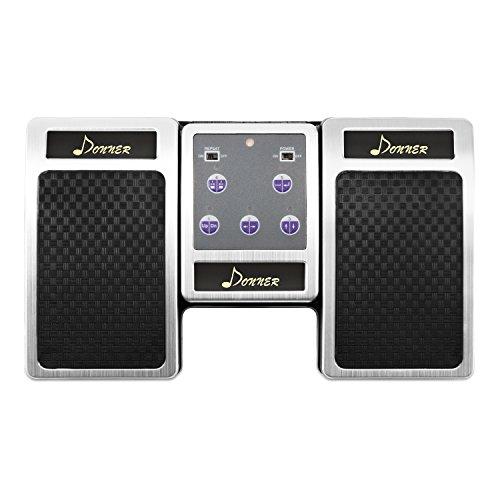 Donner Bluetooth Cambiador de Página Pedal de Música para iPad / Tableta Android / MAC / PC Color Plata